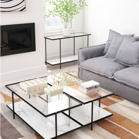 Coffee table rectangular room 3