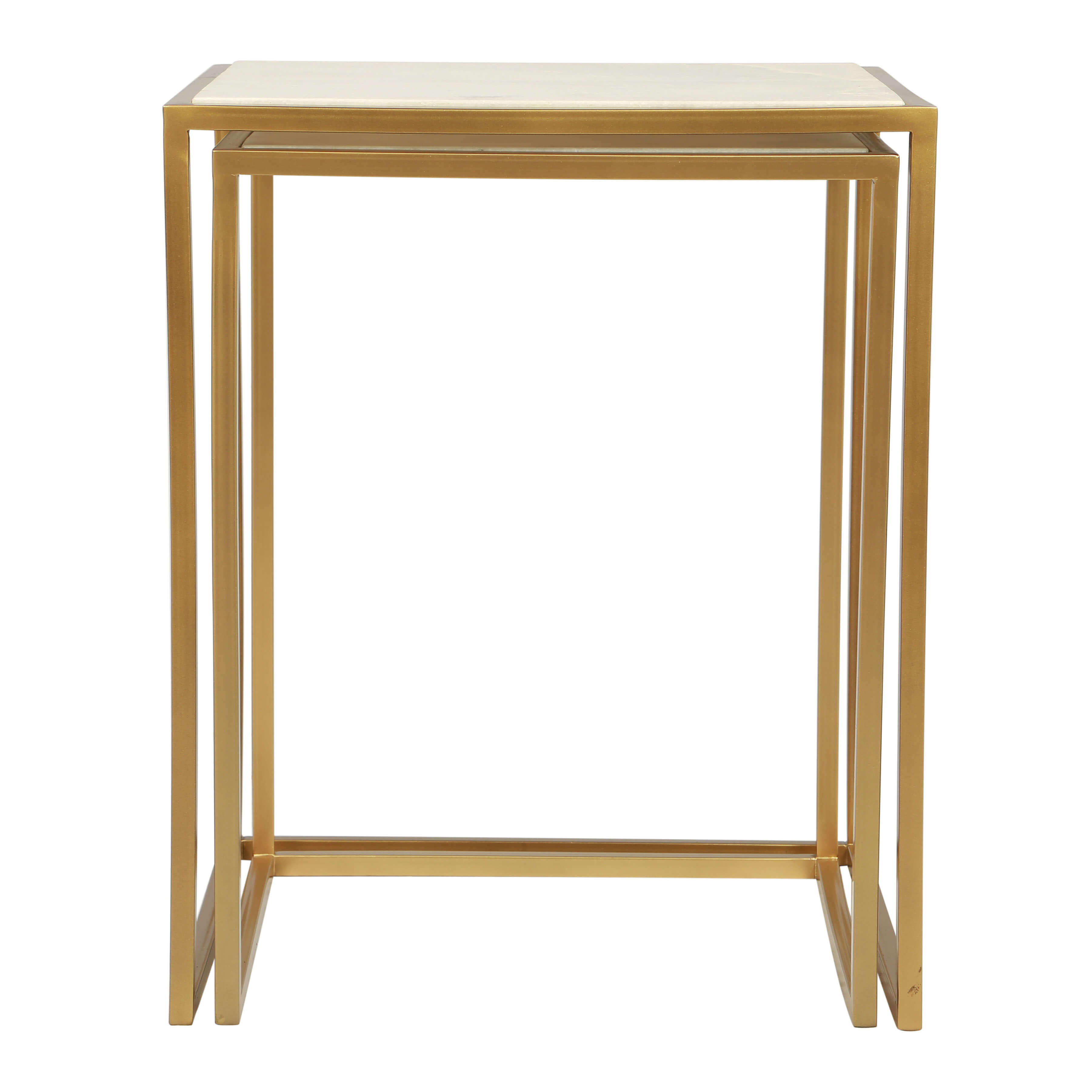 Coffee tables rectangular back view nested