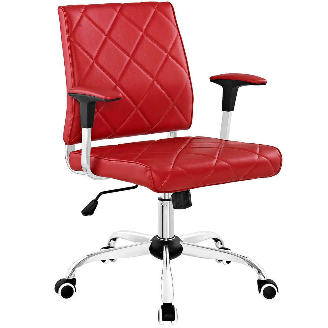 Paramus leather computer chair for Colorful office furniture