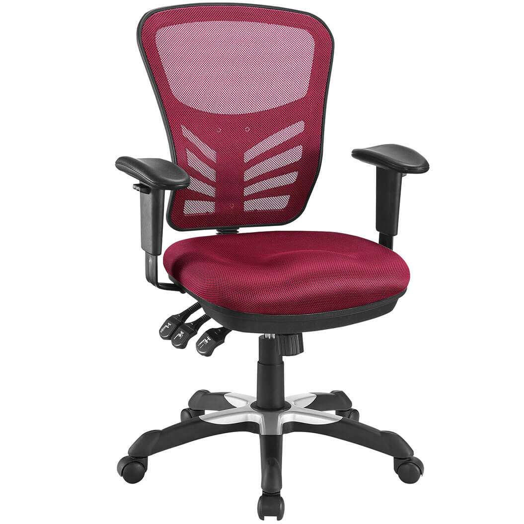 Colorful desk chairs CUB EEI 757 RED MOD