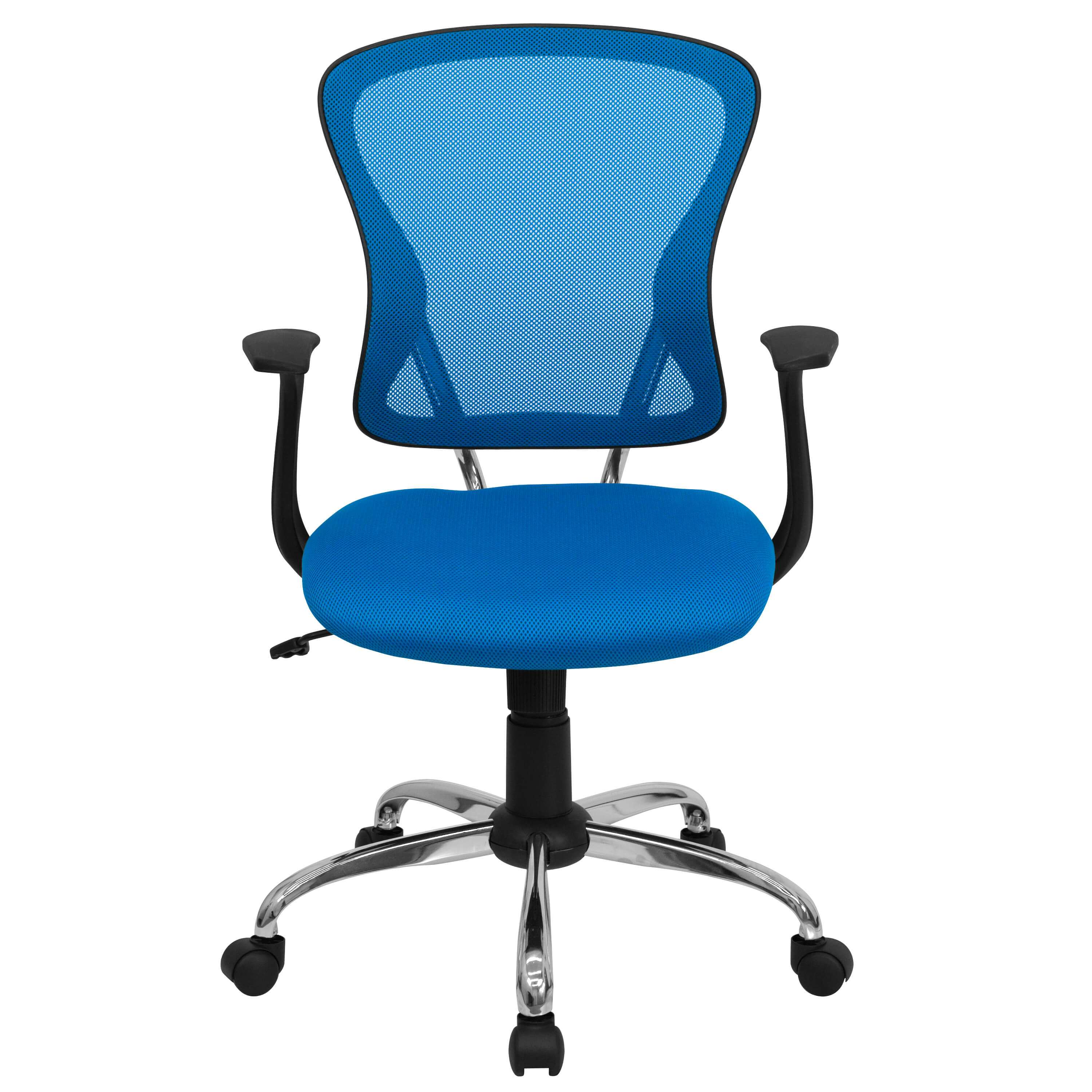 Colorful desk chairs CUB H 8369F BL GG FLA
