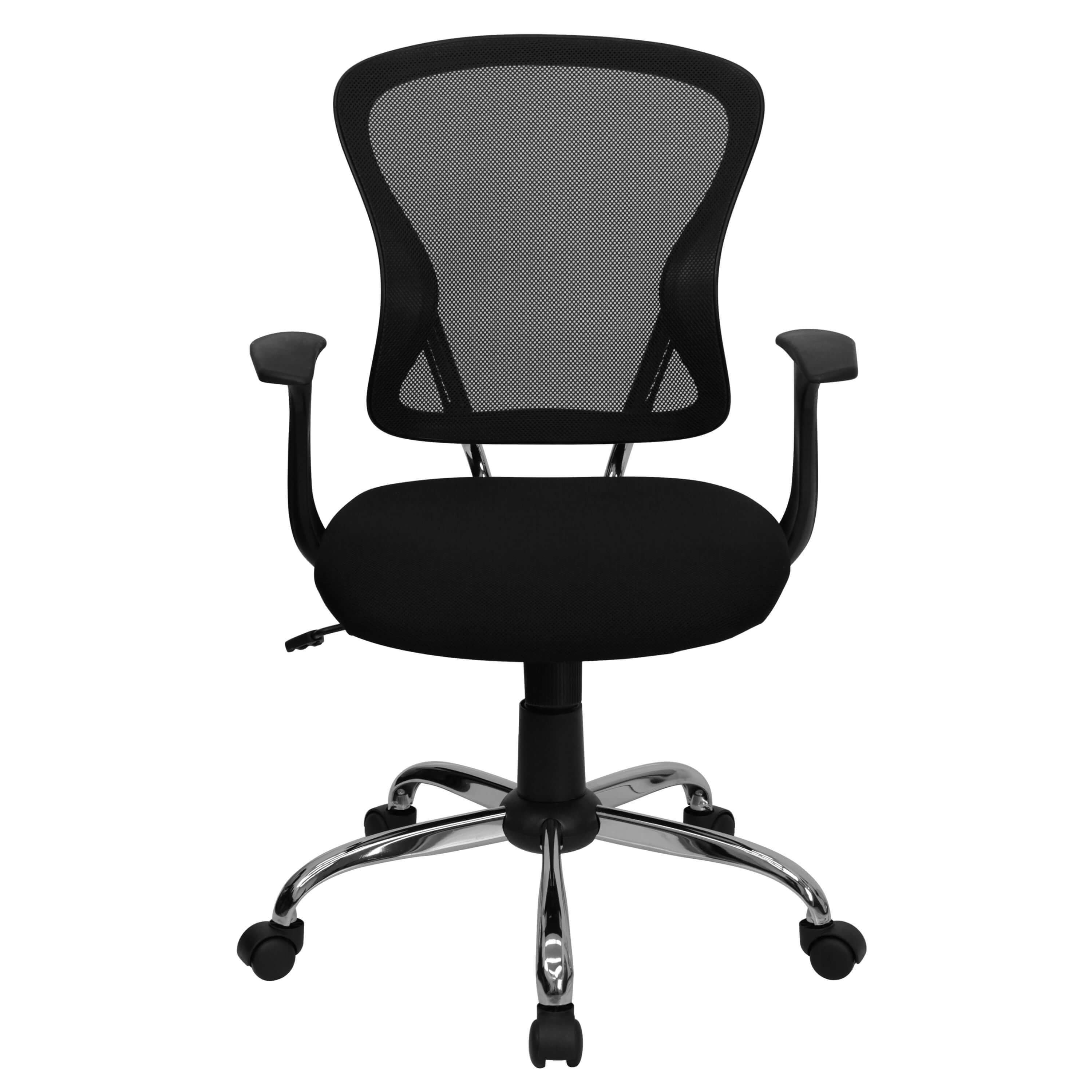 Colorful desk chairs CUB H 8369F BLK GG FLA