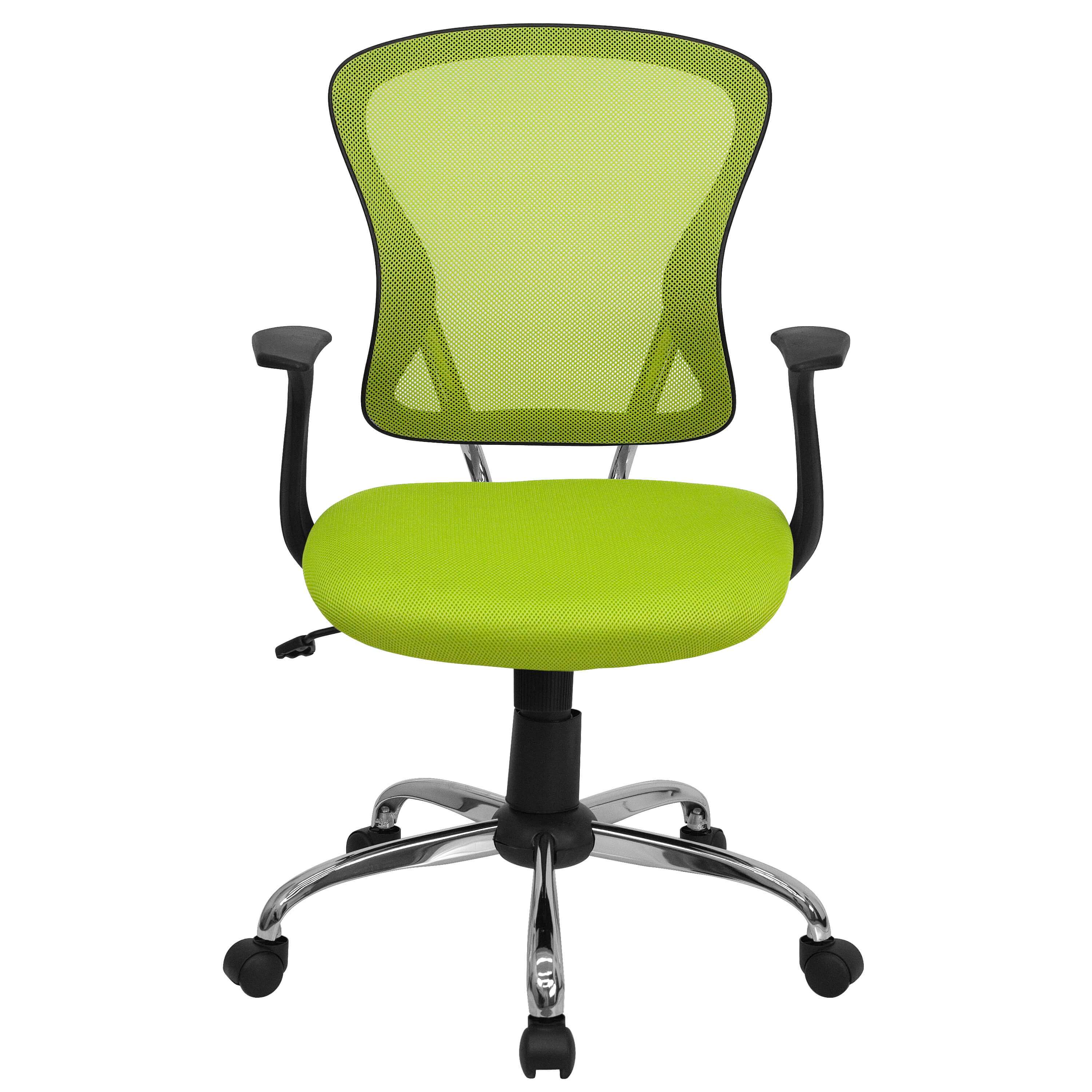 Colorful desk chairs CUB H 8369F GN GG FLA