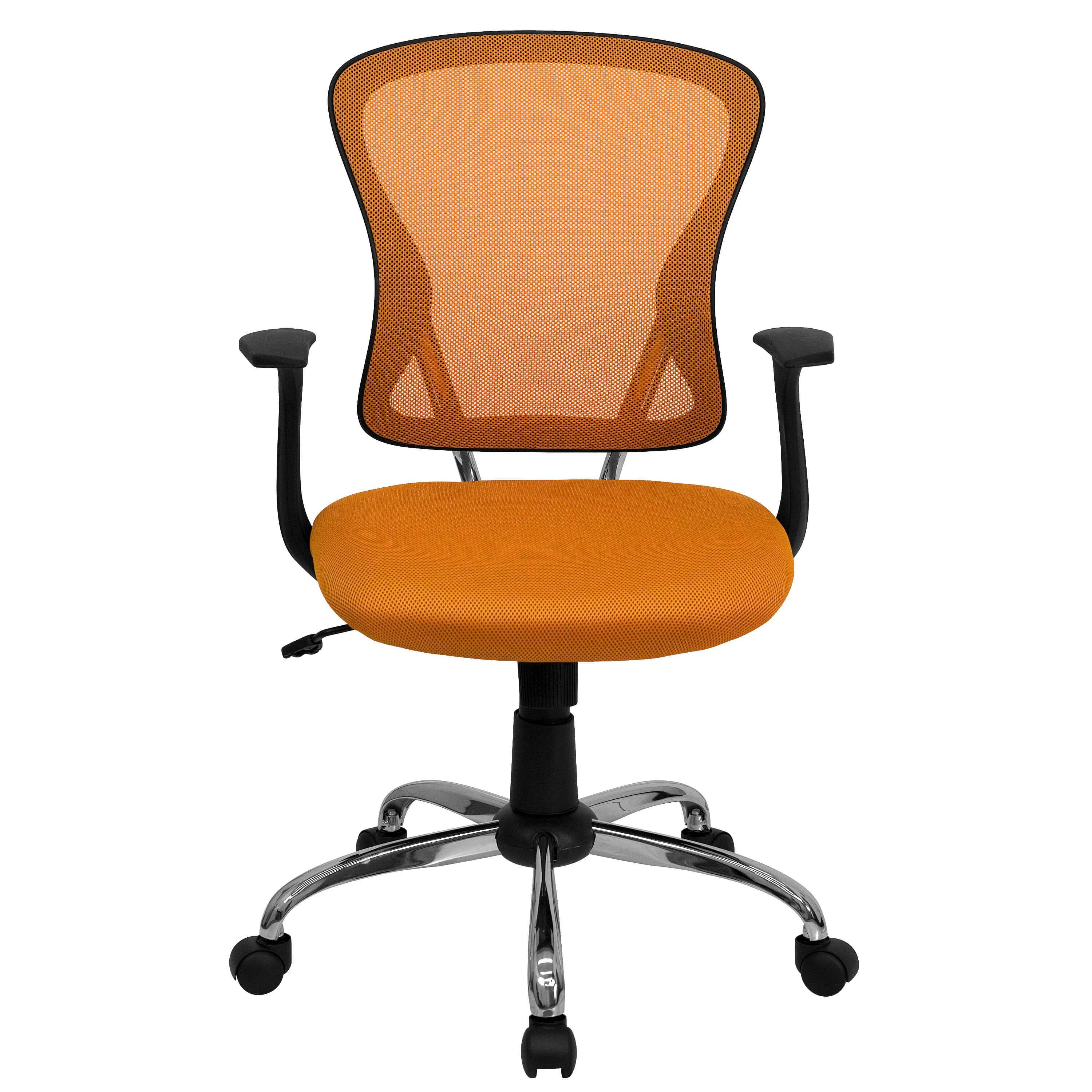 Colorful desk chairs CUB H 8369F ORG GG FLA