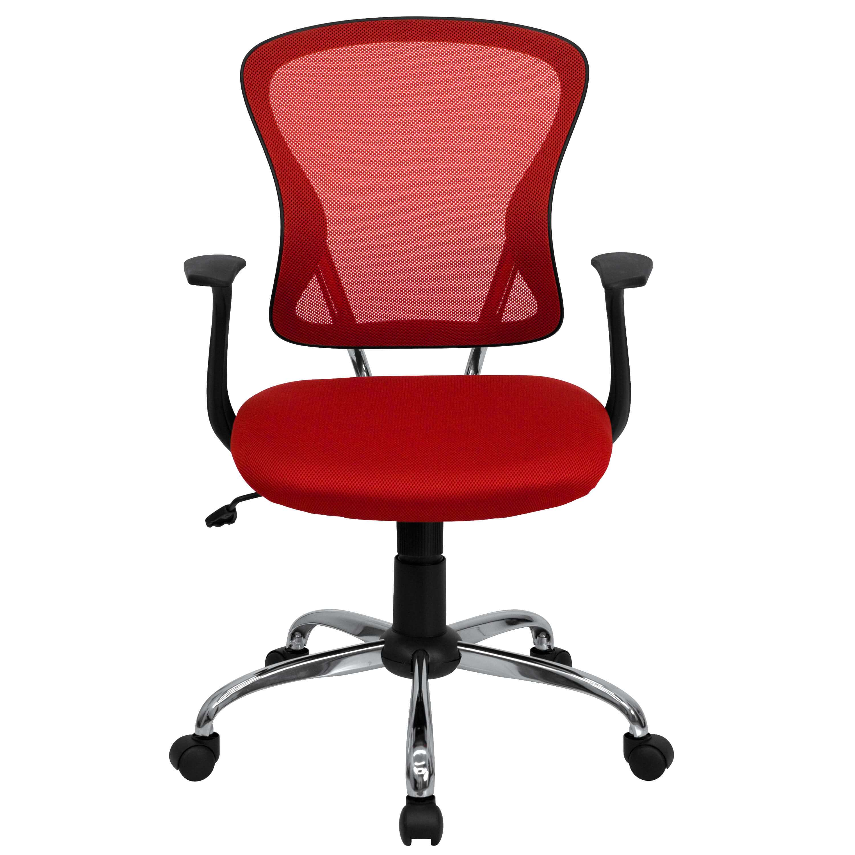 Colorful desk chairs CUB H 8369F RED GG FLA