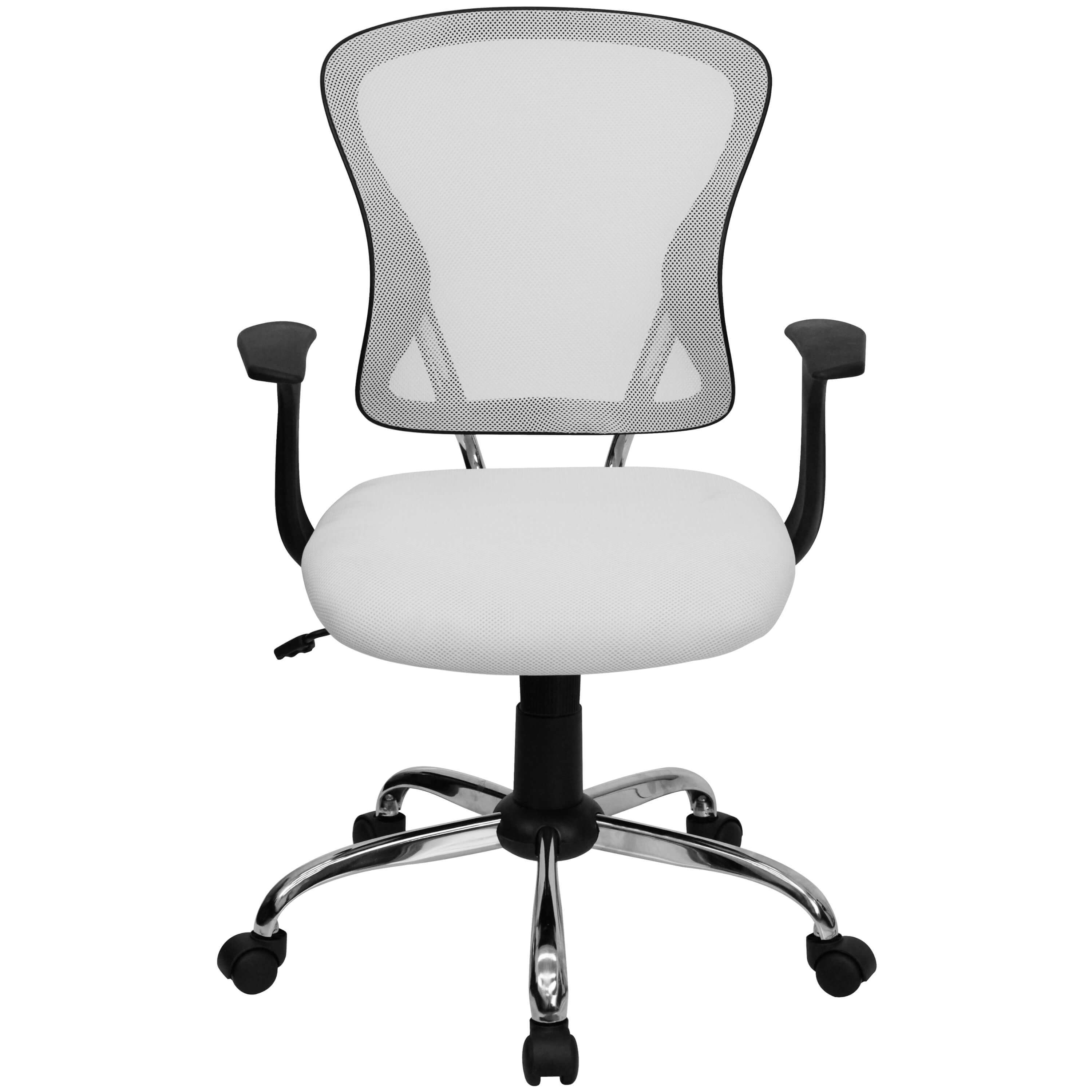 Colorful desk chairs CUB H 8369F WHT GG FLA