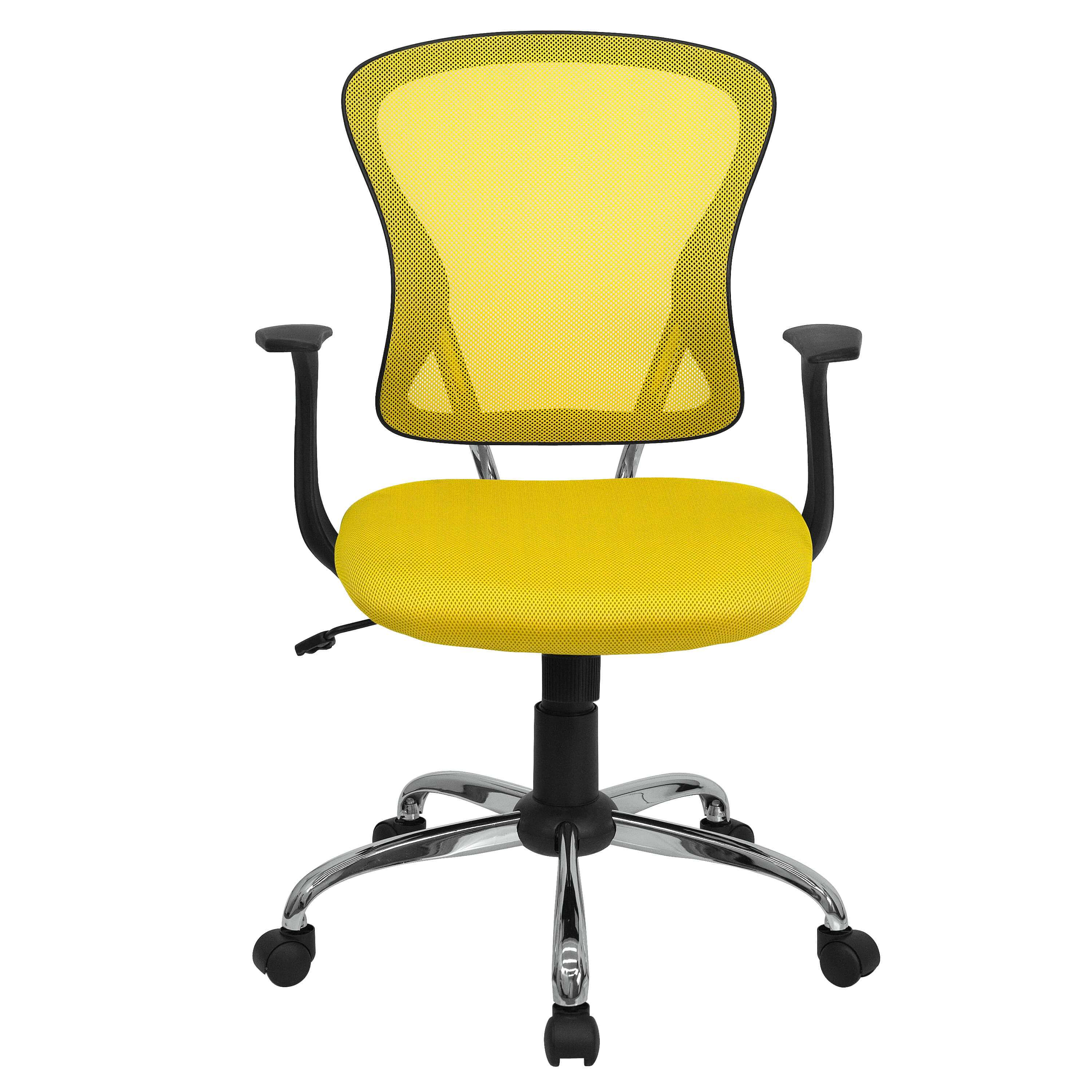 Colorful desk chairs CUB H 8369F YEL GG FLA