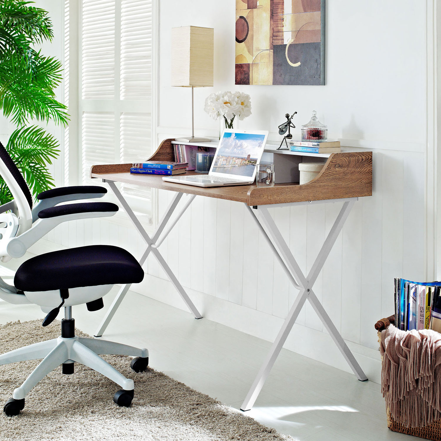 Compact desk furniture environmental
