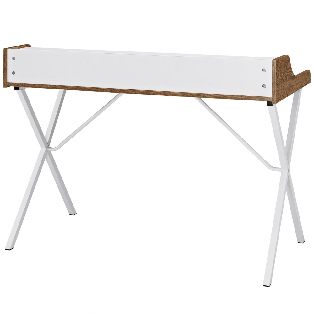Compact desk furniture rear view