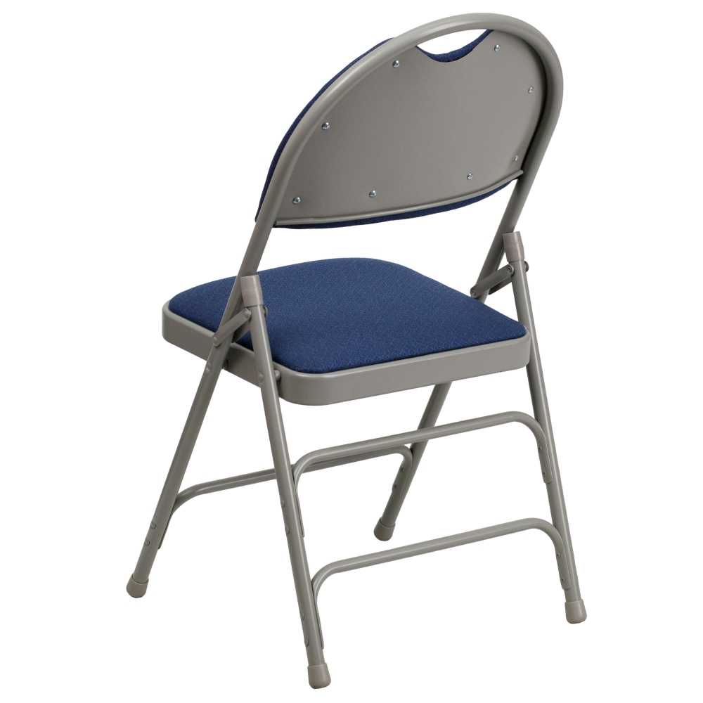 Compact folding chair rear view