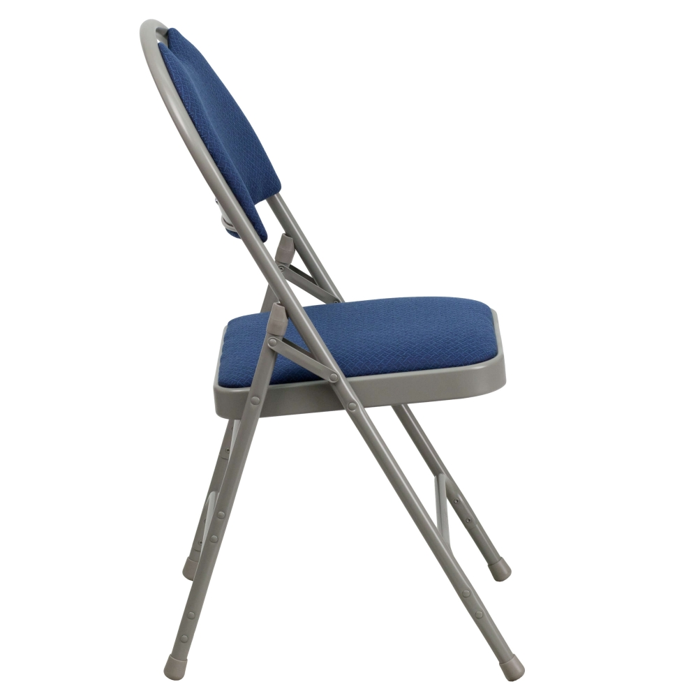 Compact folding chair side view
