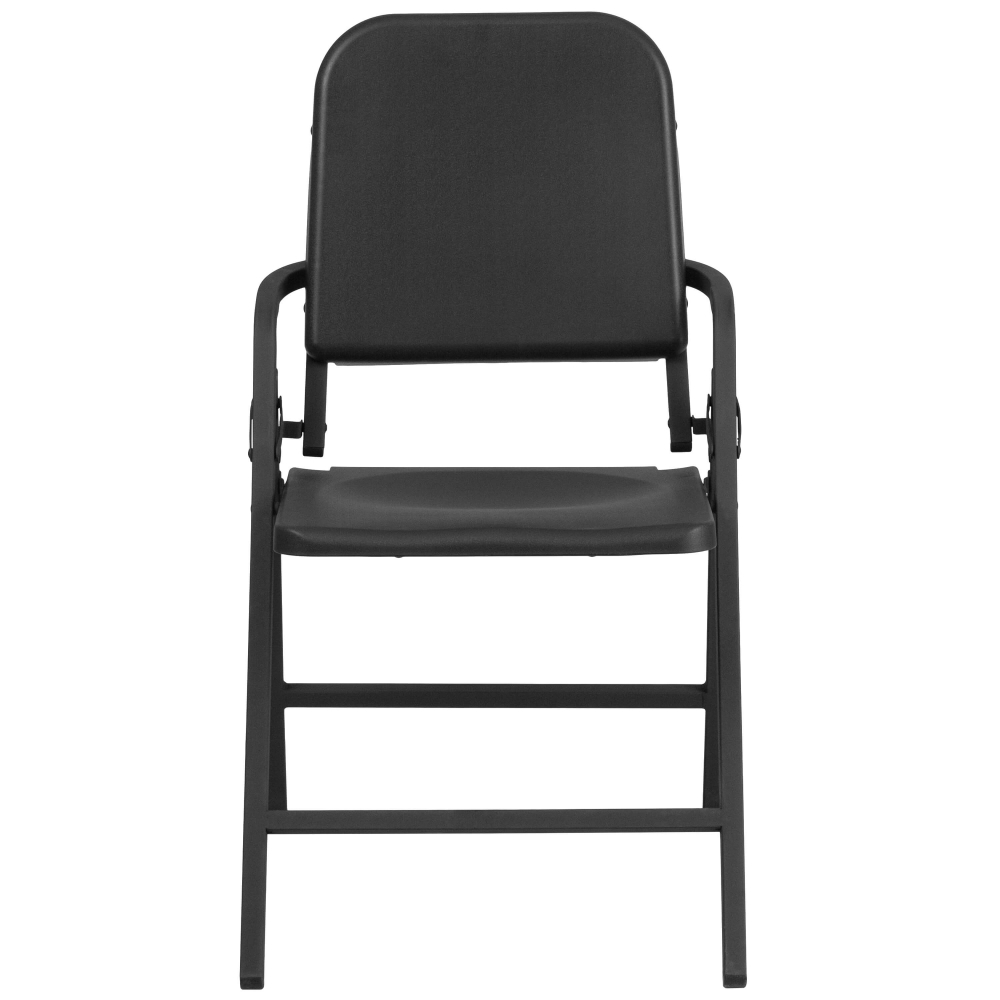 Compact portable chair front view