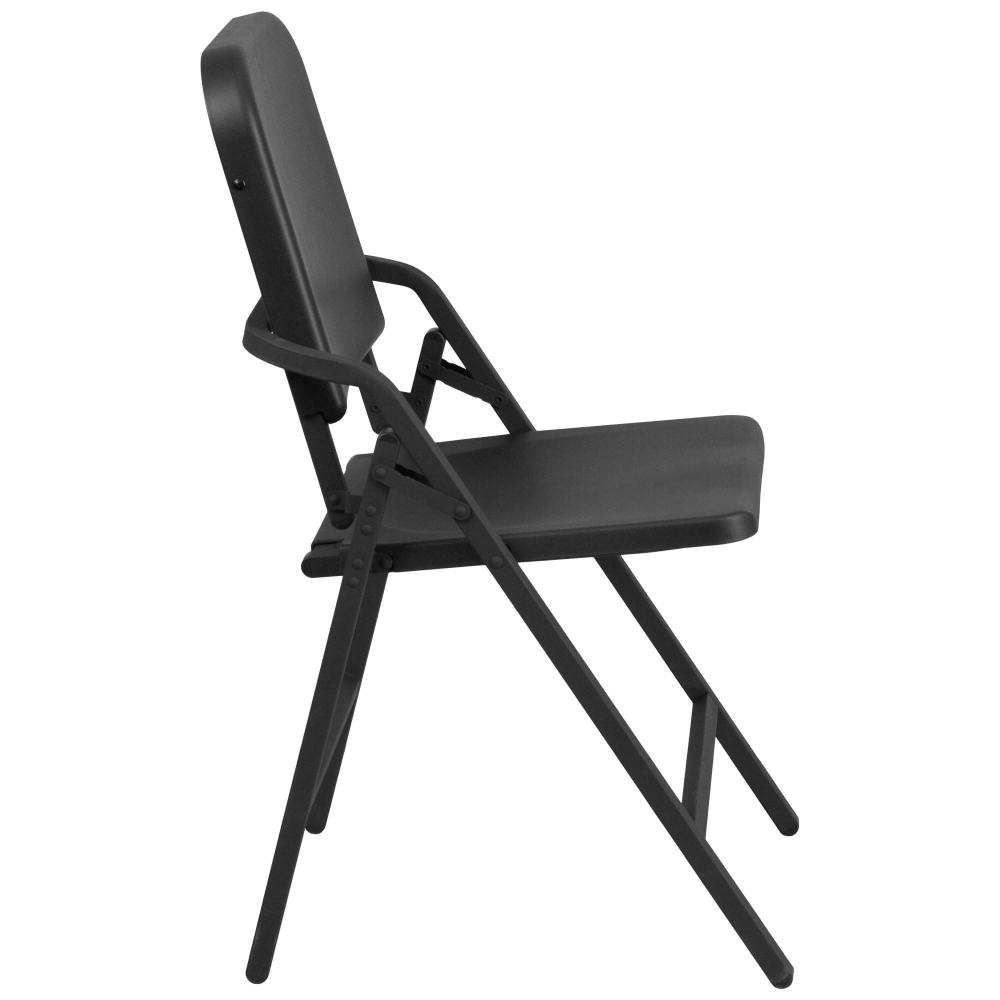 Compact portable chair side view