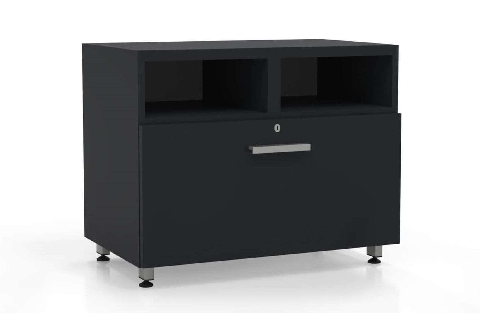 Contemporary l shaped desk lateral file raven_preview