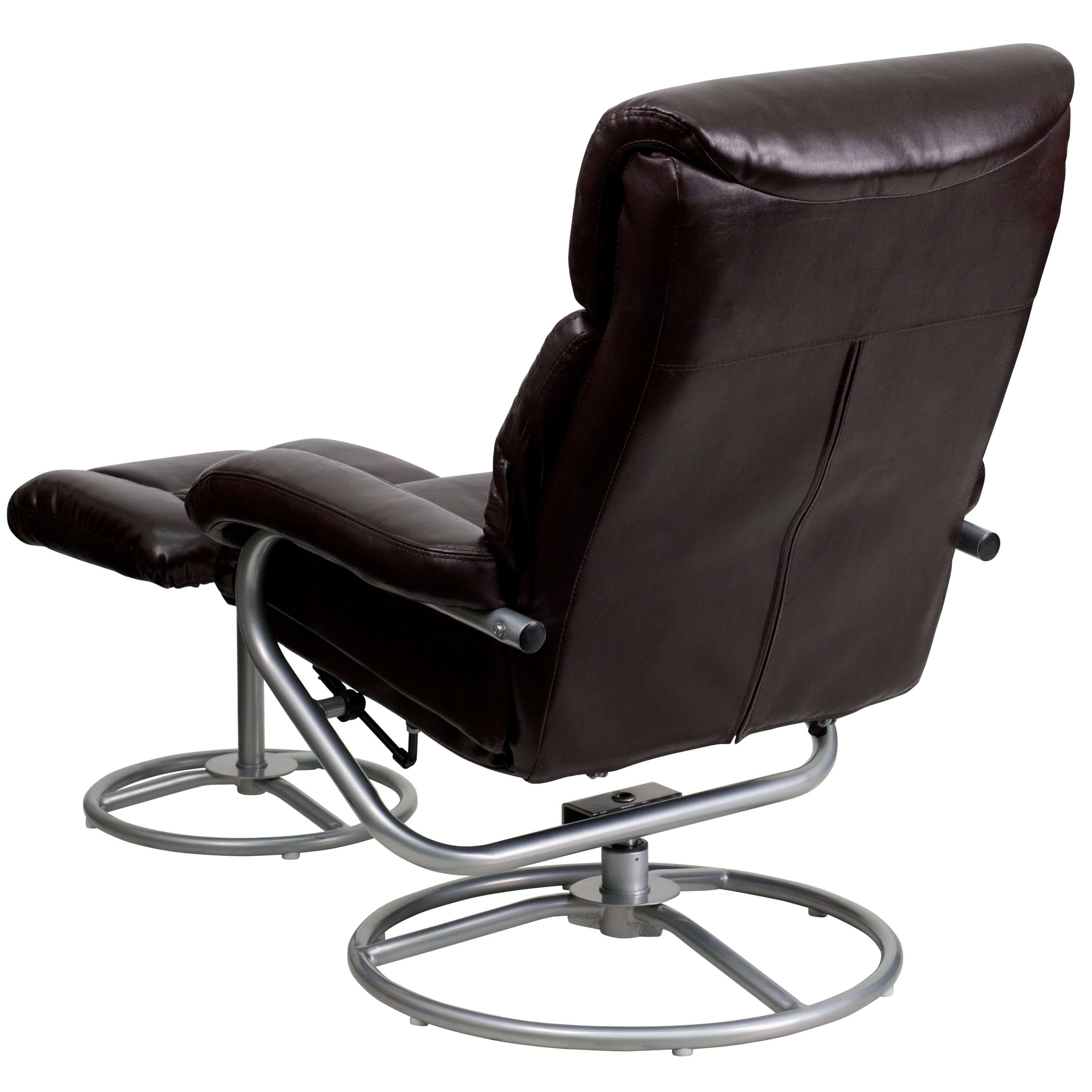 Contemporary leather recliners back view