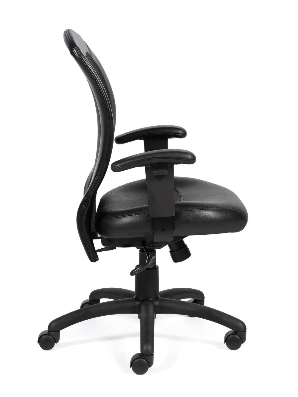 Contemporary office chair side view