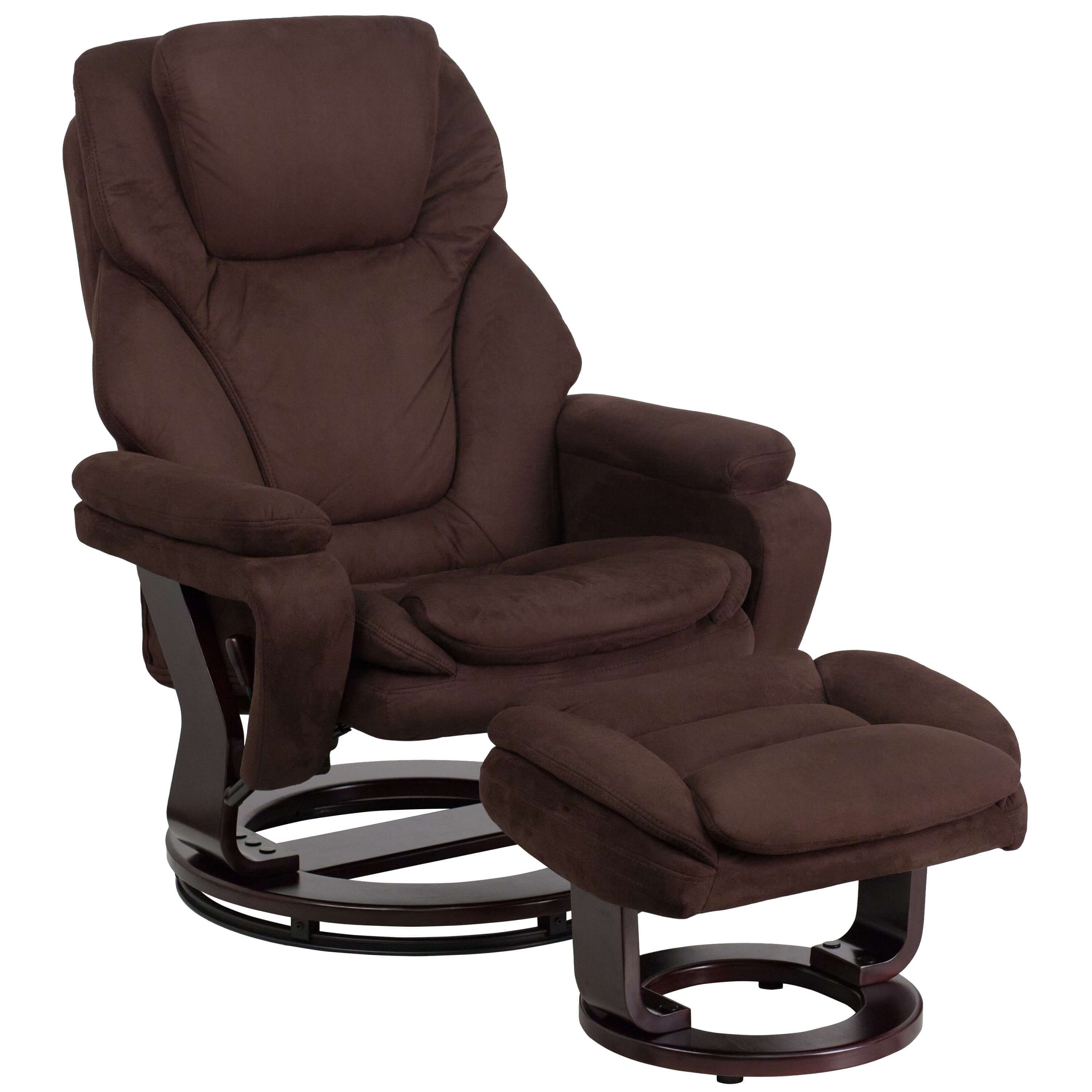 Contemporary recliner brown recliner