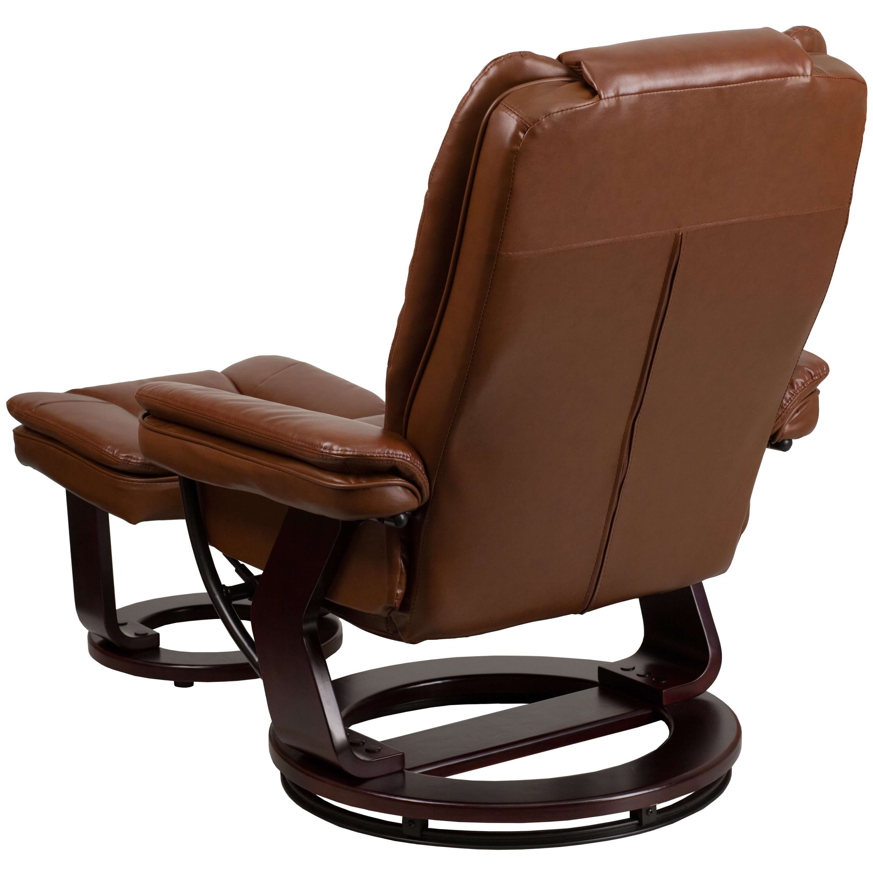 Contemporary recliner chair back view