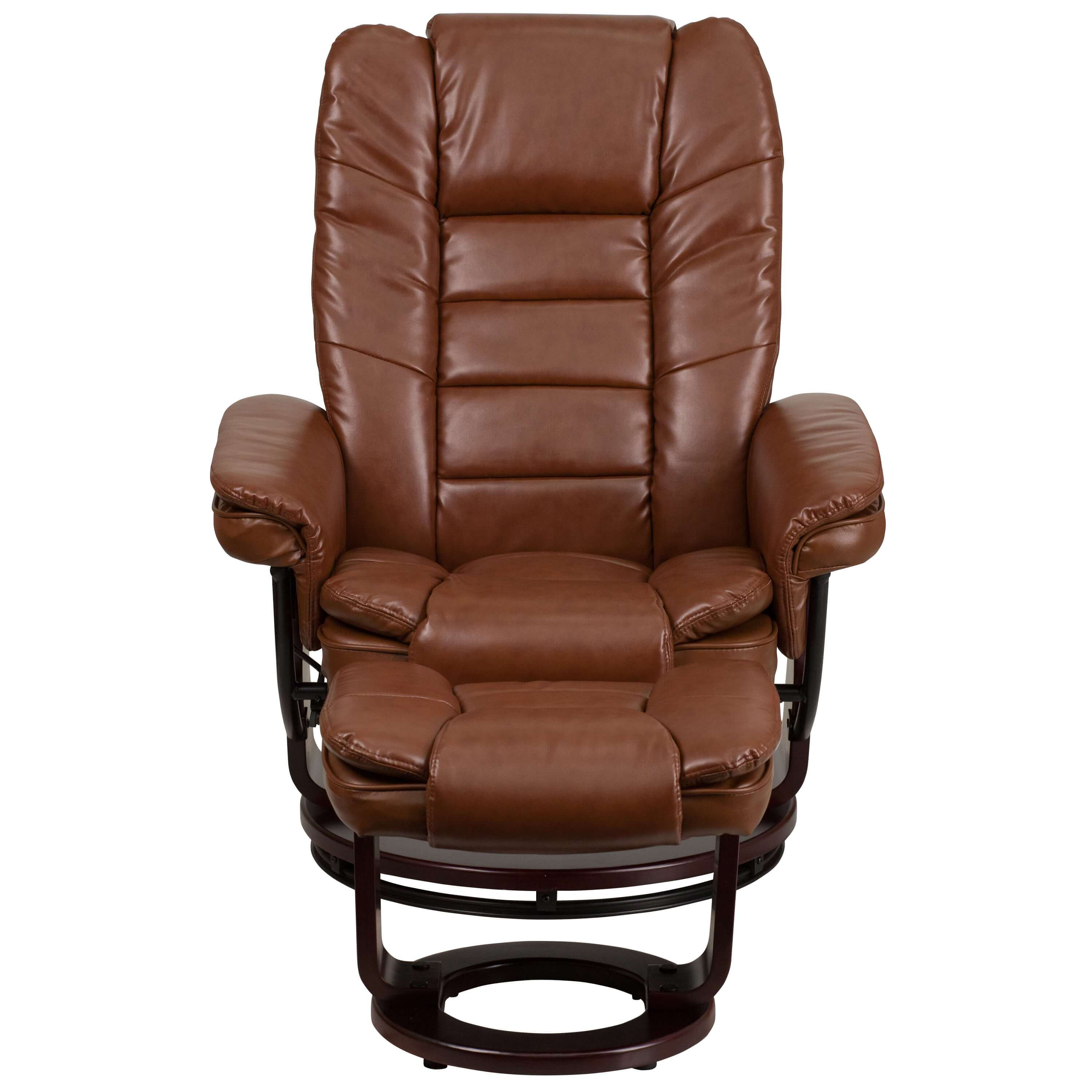 Contemporary recliner chair front view