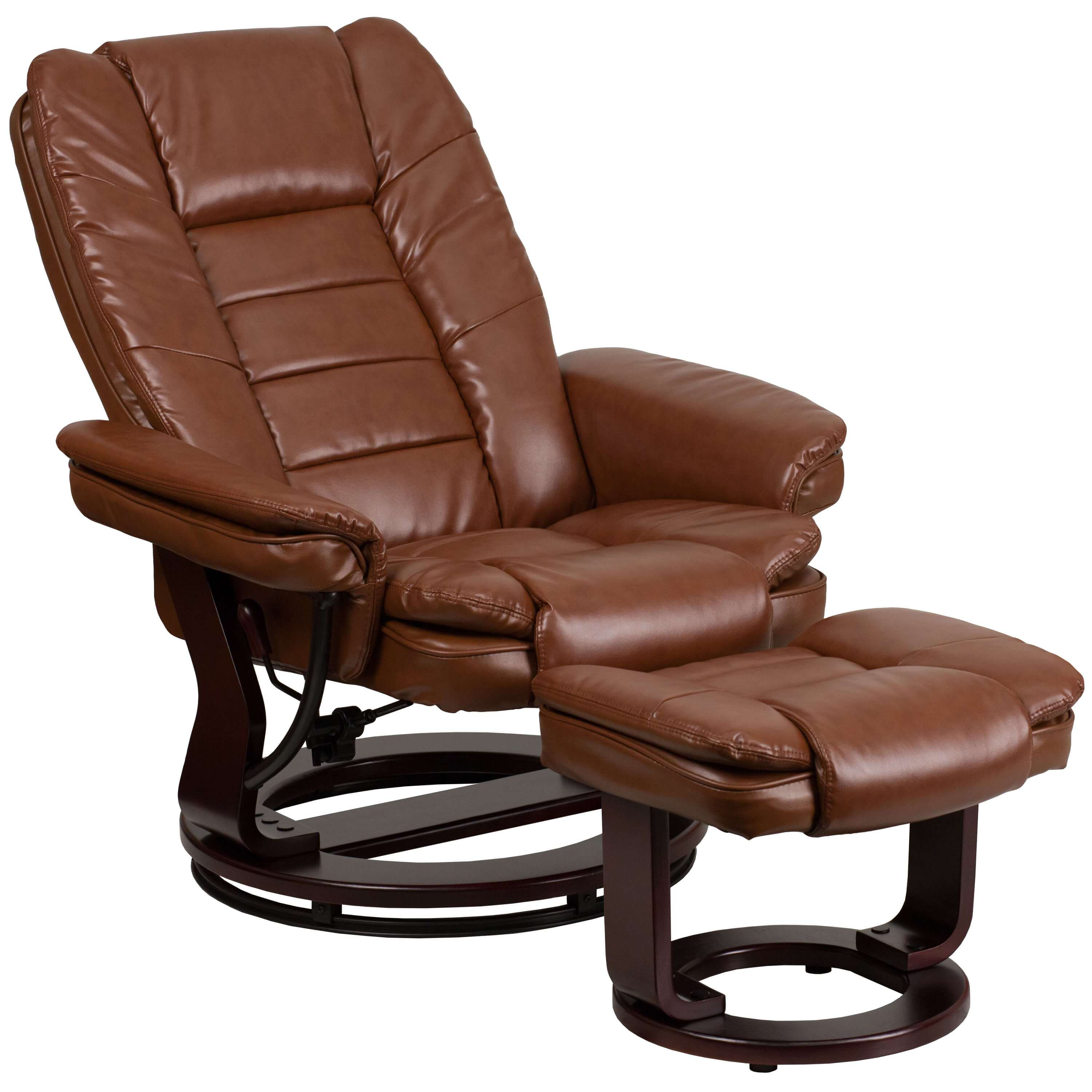 Contemporary recliner chair reclined view