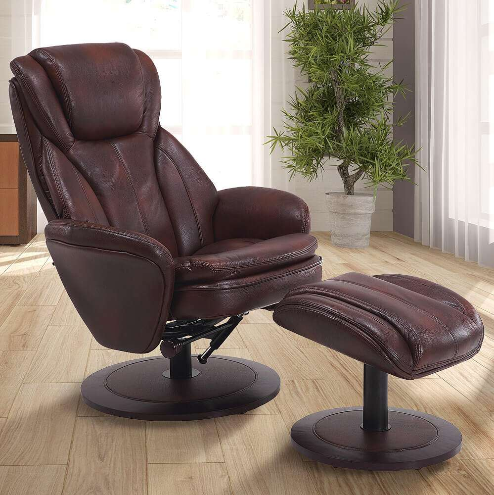 Slaggard Leather Swivel Recliner