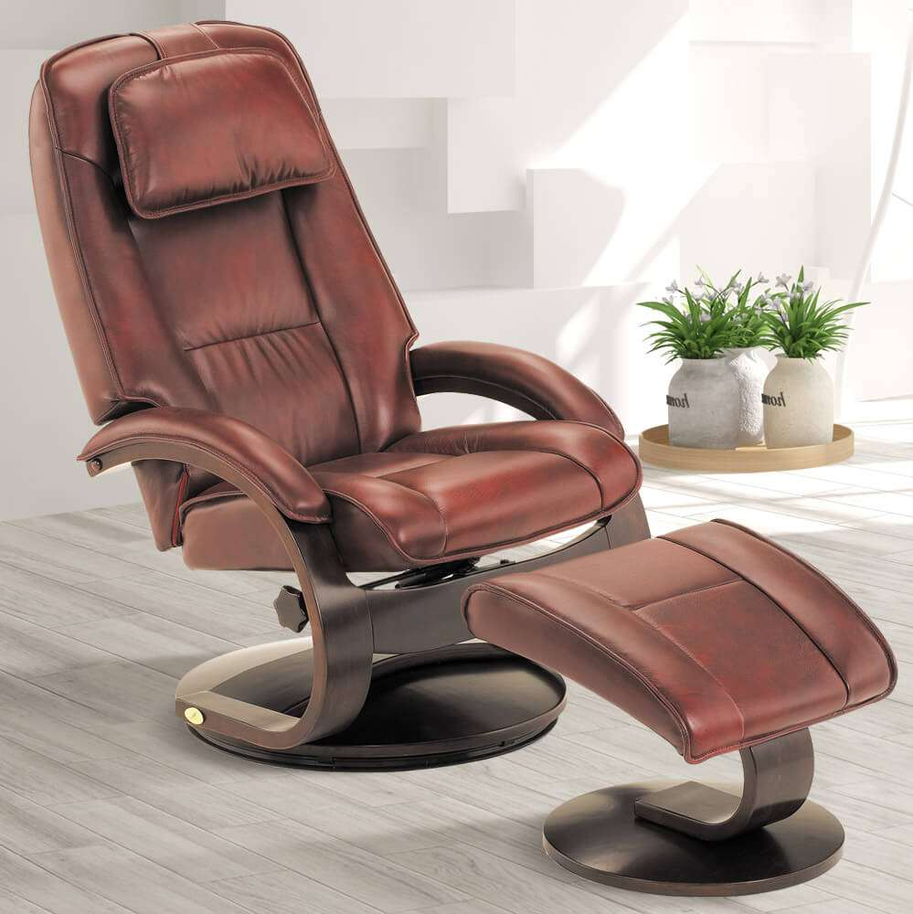 Rainier Swivel Leather Recliner