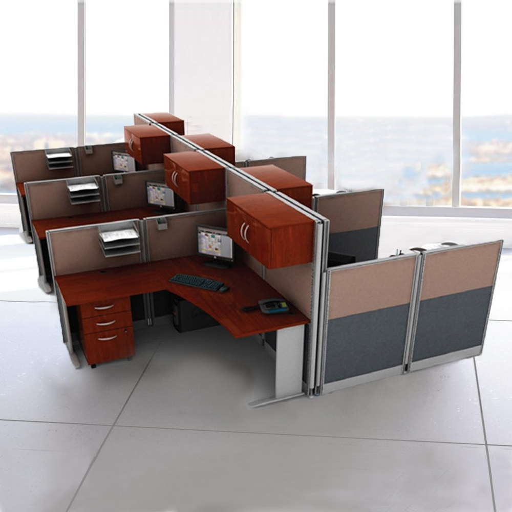 Cubicals In An Hour L Shaped Cobicle Workstation With Storage 6pack