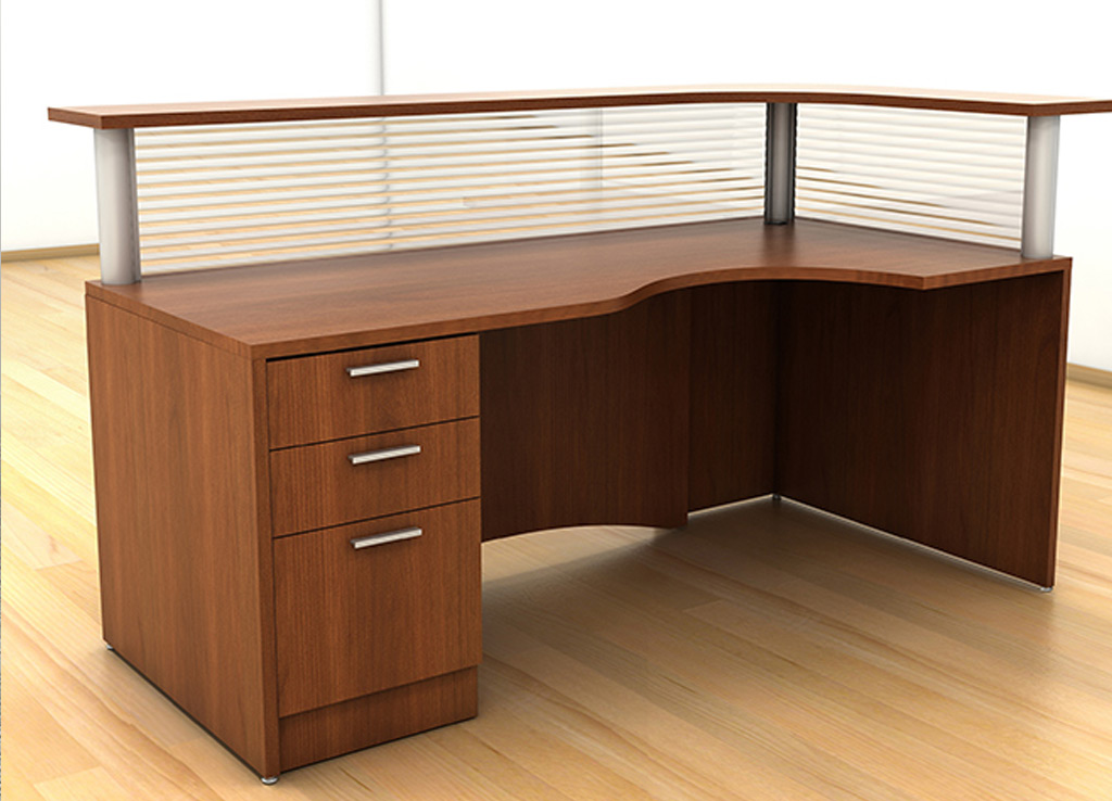 cool custom reception desk furniture | Custom Office Furniture