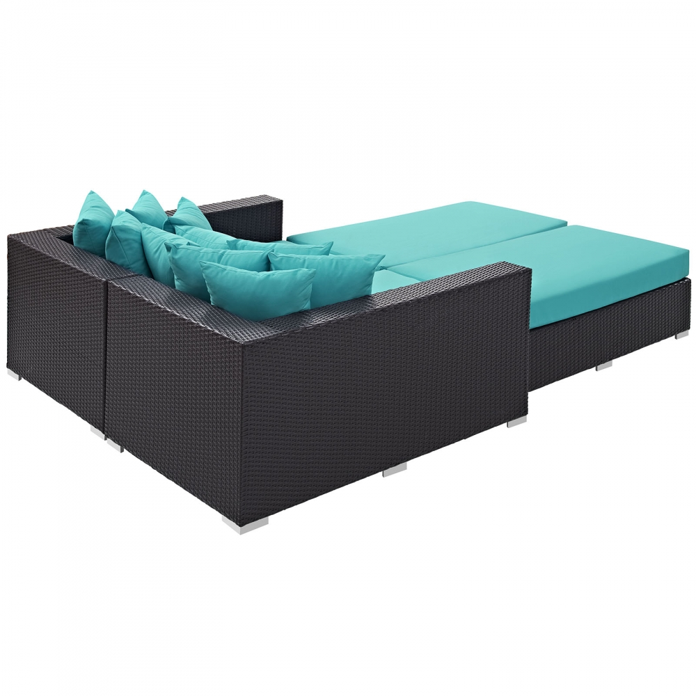Daybed furniture sets rear view