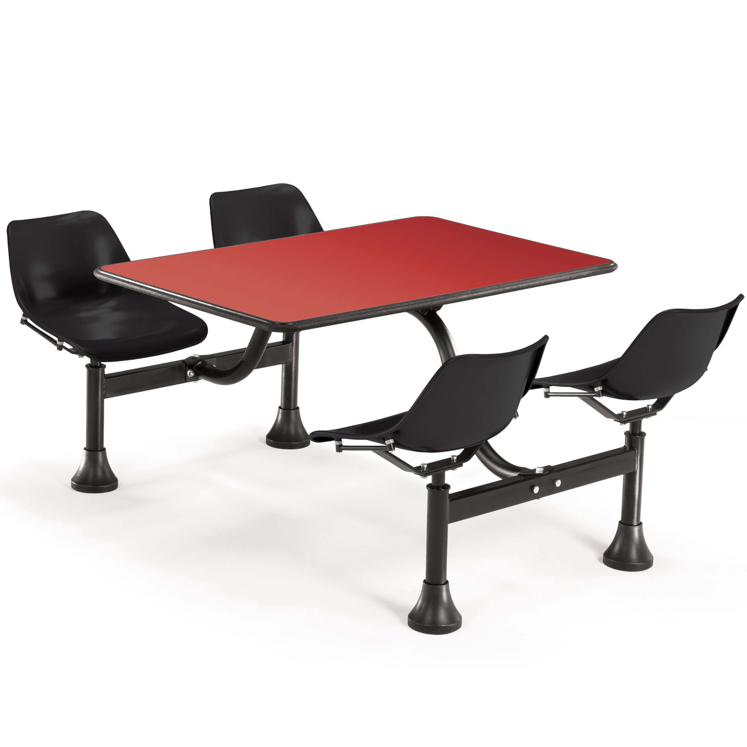 Dining booth CUB 1002 BLK RED OFM