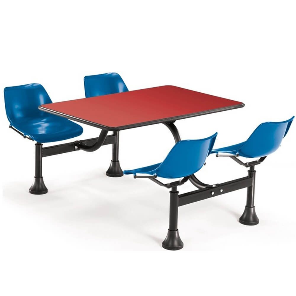 Dining booth CUB 1003 BLUE RED OFM