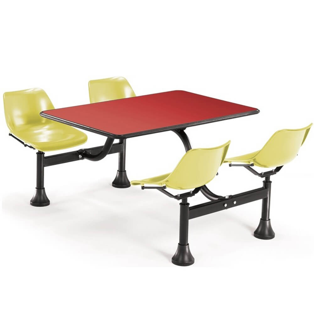 Dining booth CUB 1003 YLW RED OFM