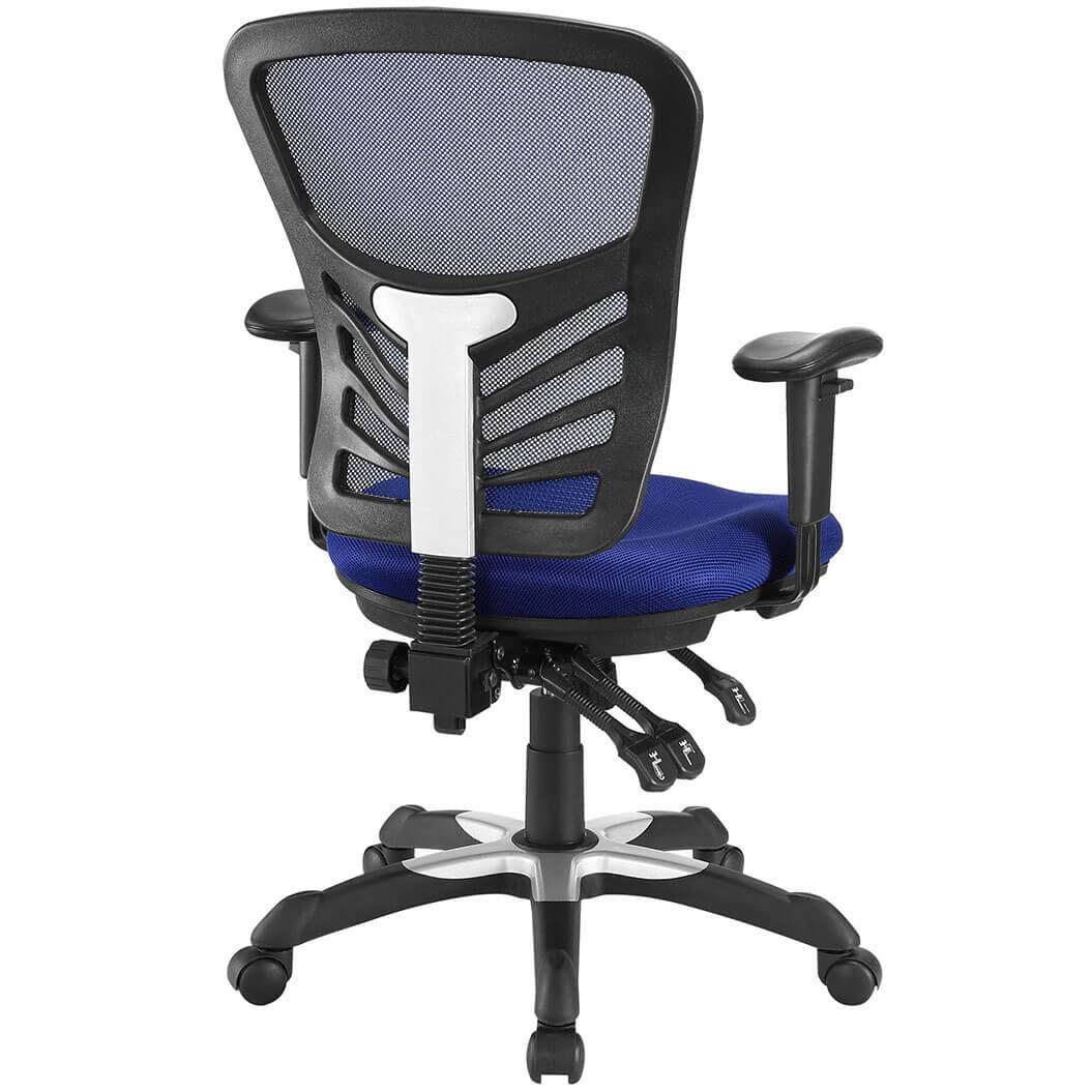 Ergonomic mesh office chair rear view