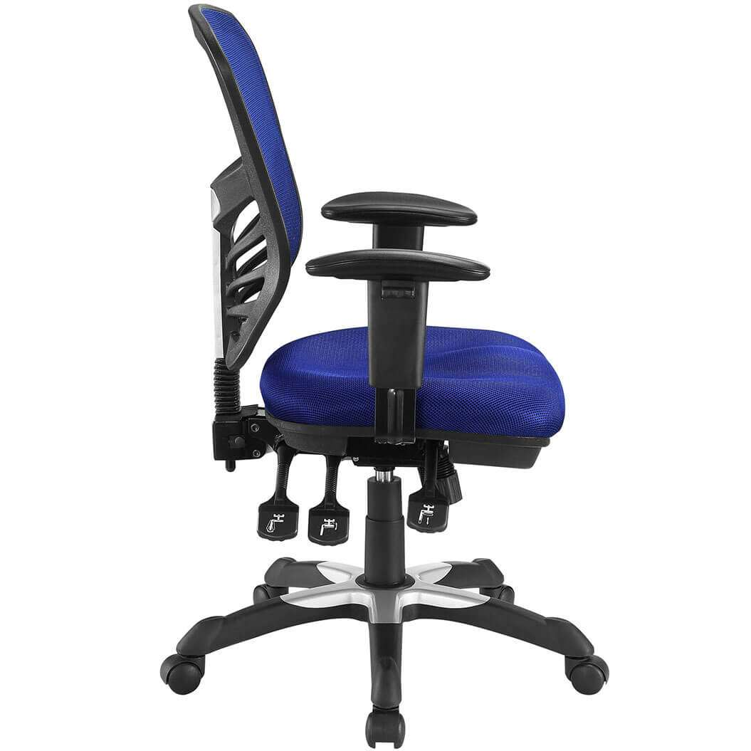 Ergonomic mesh office chair side view