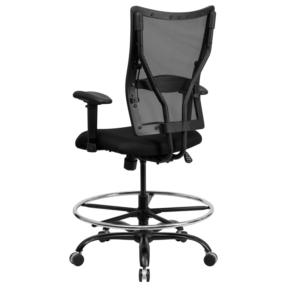 Extra tall office chair rear view