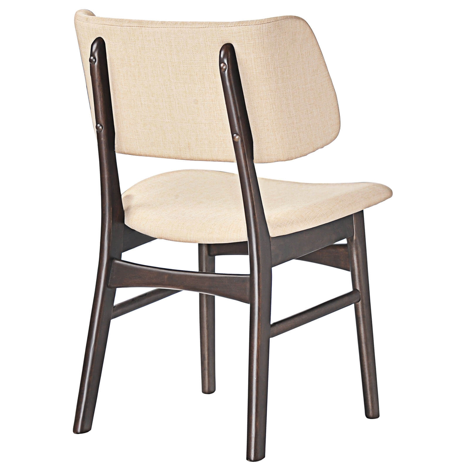 Fabric dining chair back view