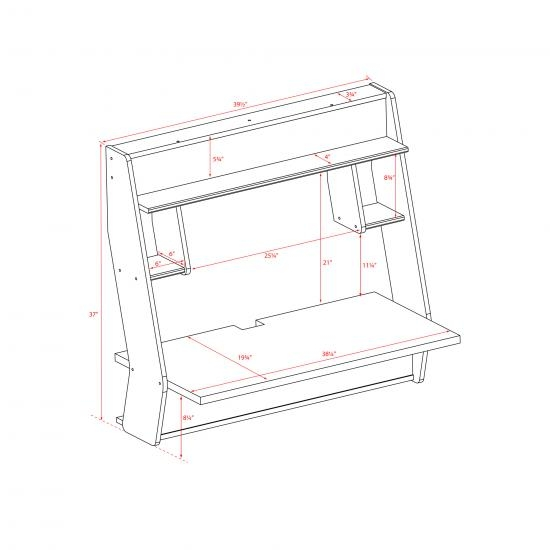 Floating wall desk dimensions