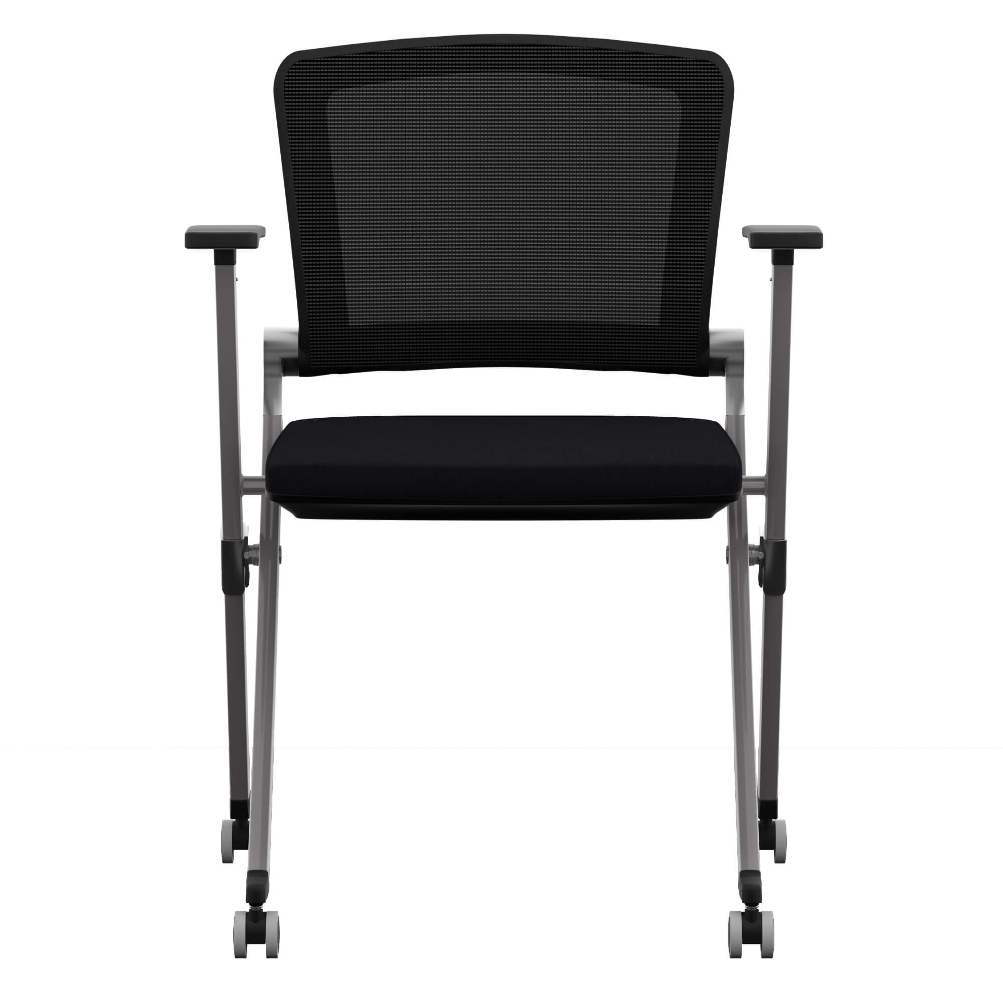 Folding office chair front view 1