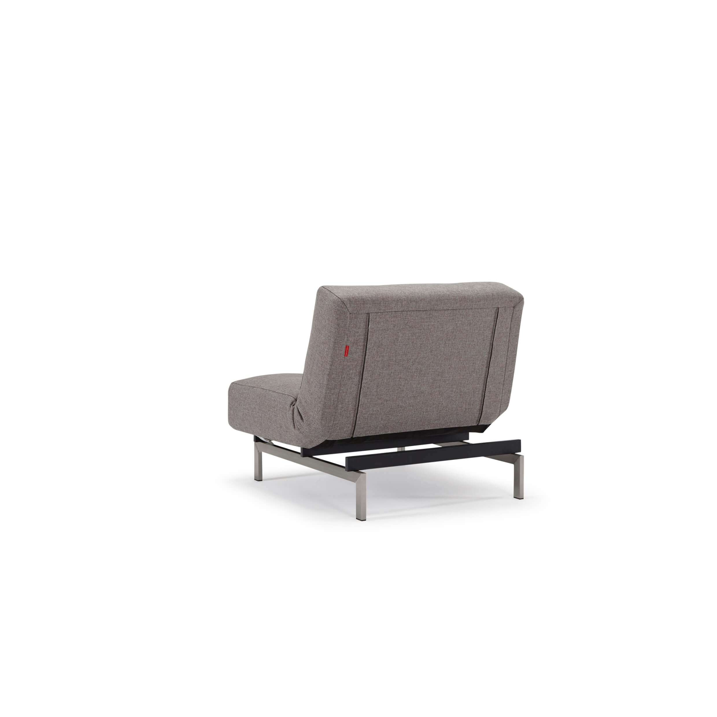 Futon chair bed rear view