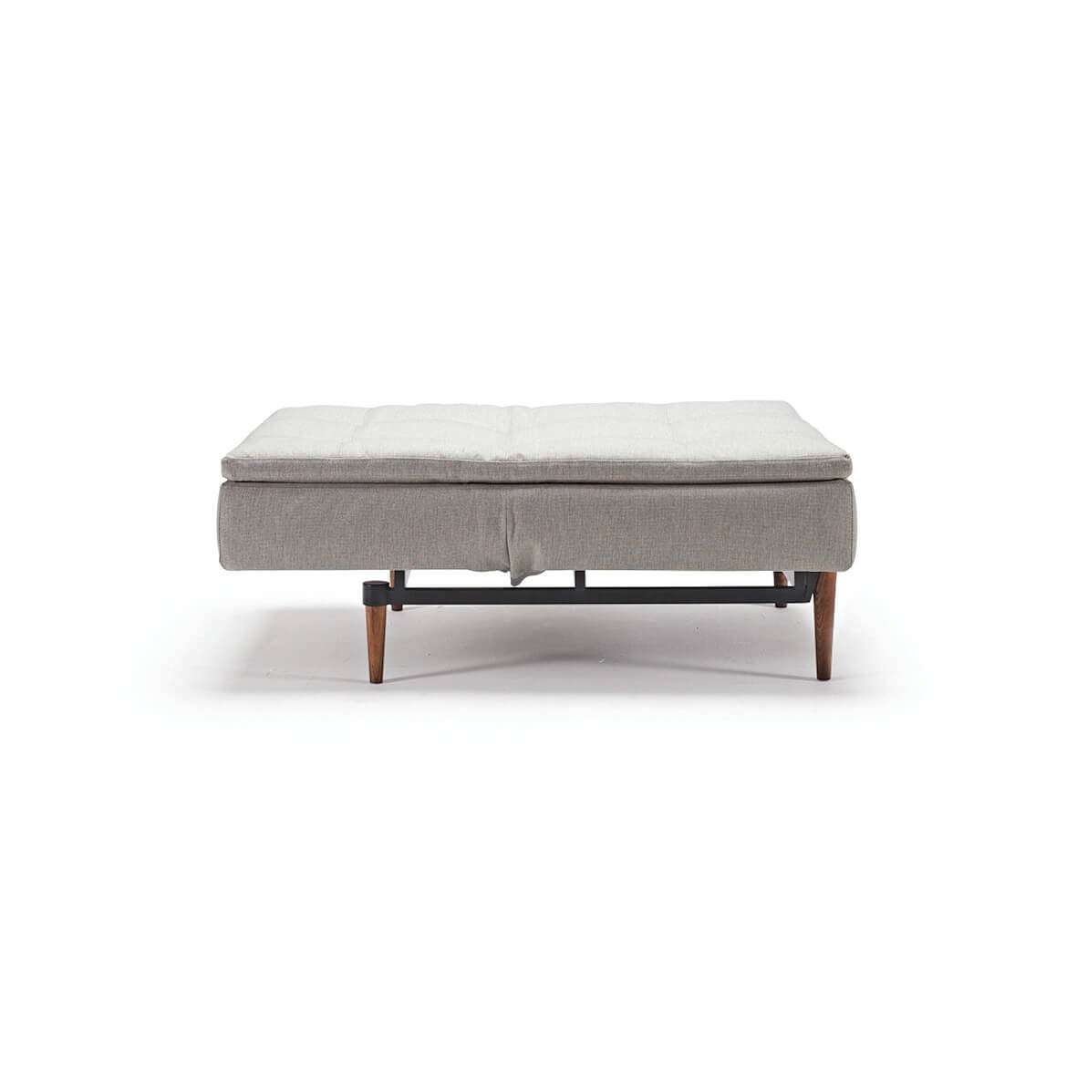 Futon convertible sofa unfolded side view