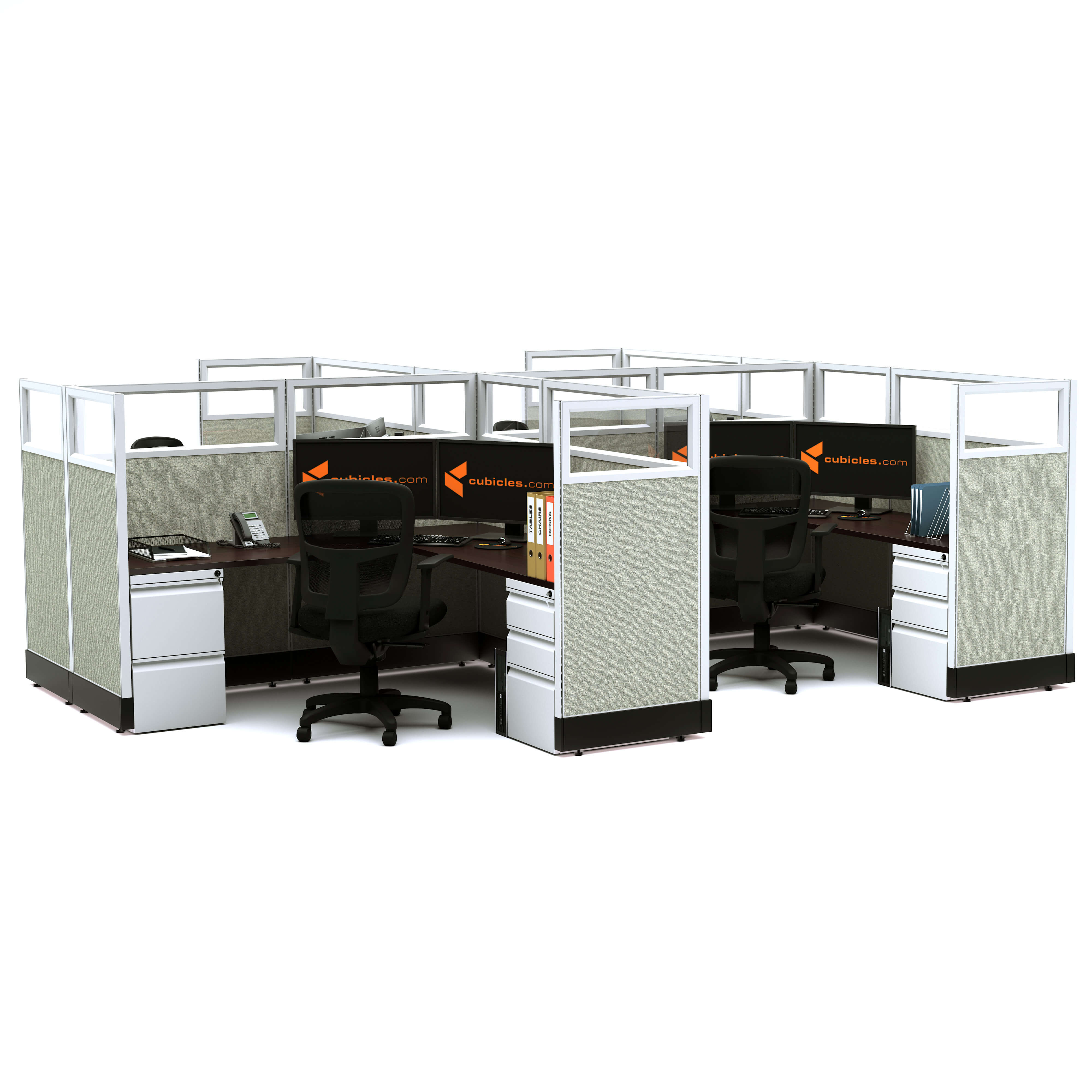 glass-office-cubicles-53h-4pack-cluster-powered.jpg