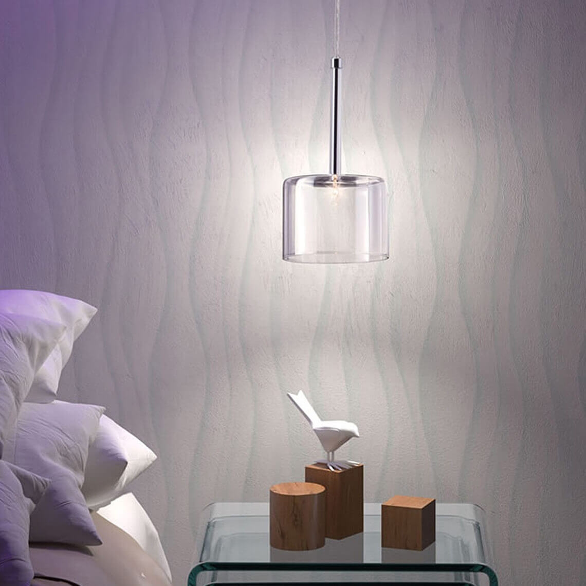 Glass pendant light environmental view