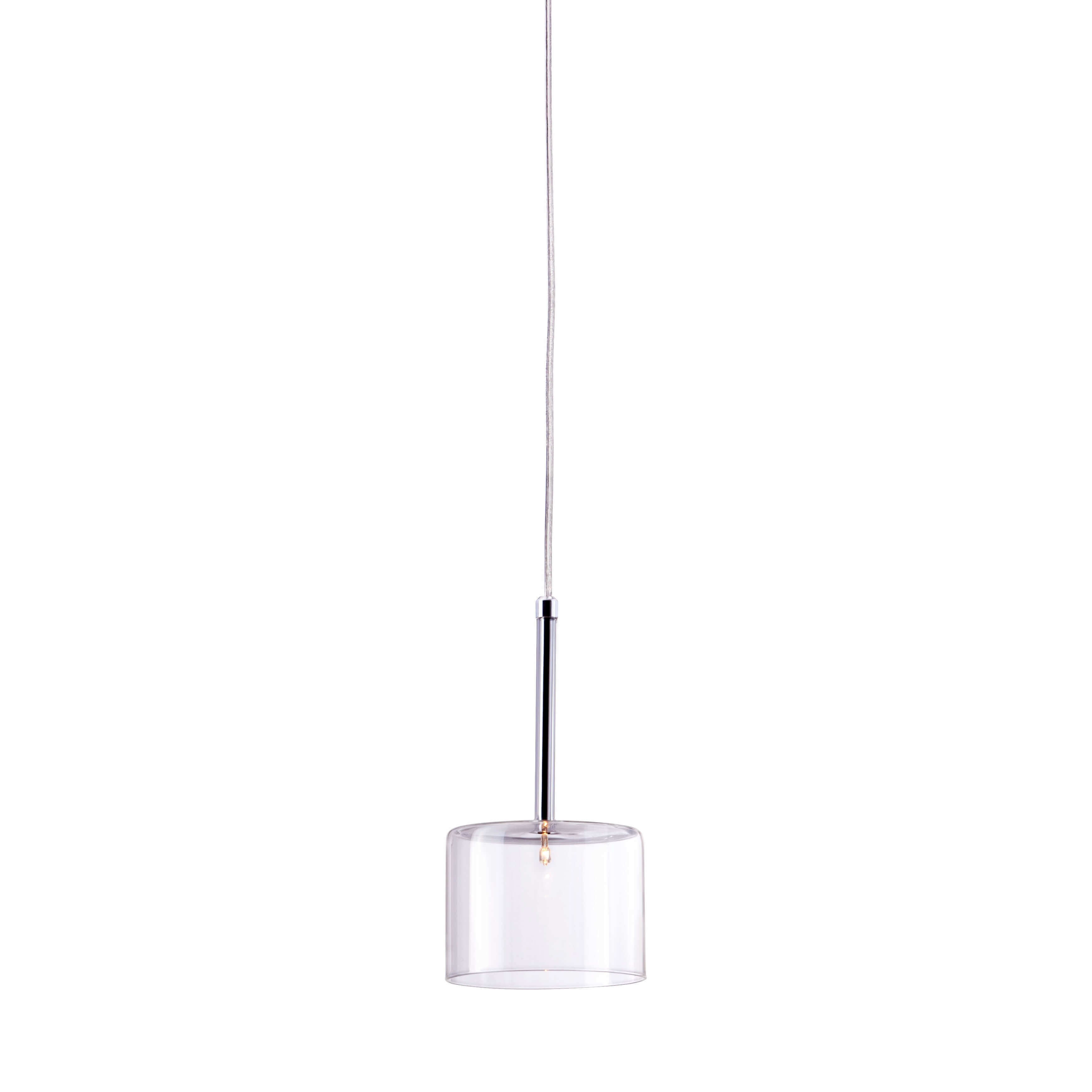 Glass pendant light front view