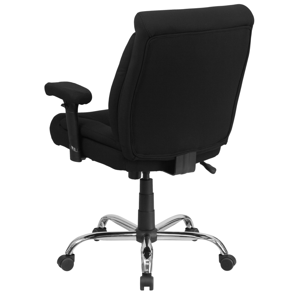 Heavy duty computer chair rear view