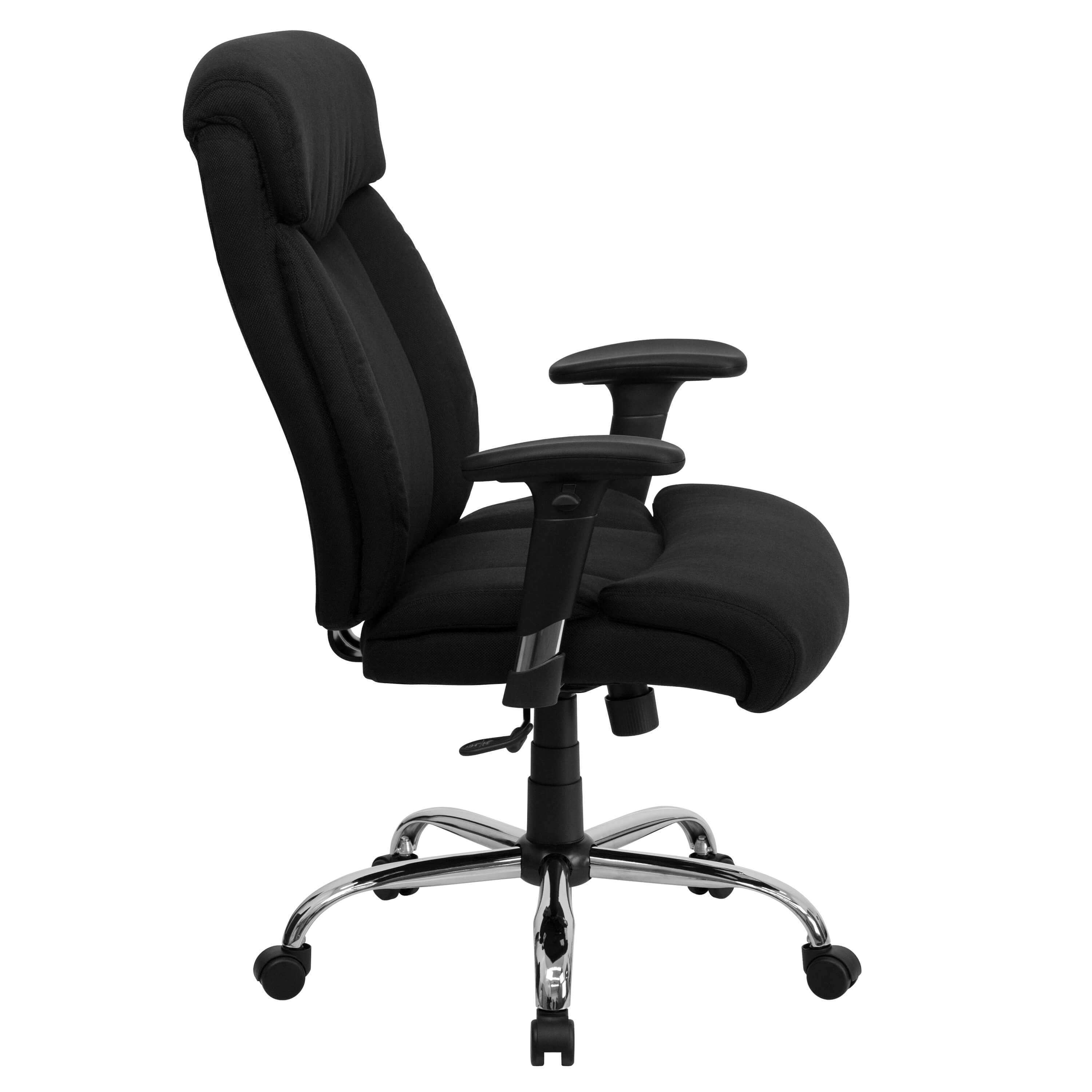 Heavy duty ergonomic office chairs side view