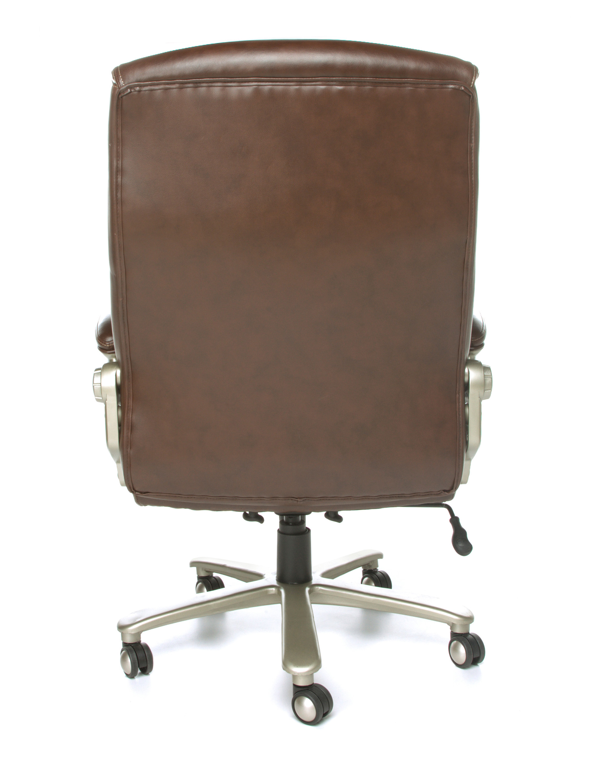 Heavy duty executive chair rear view