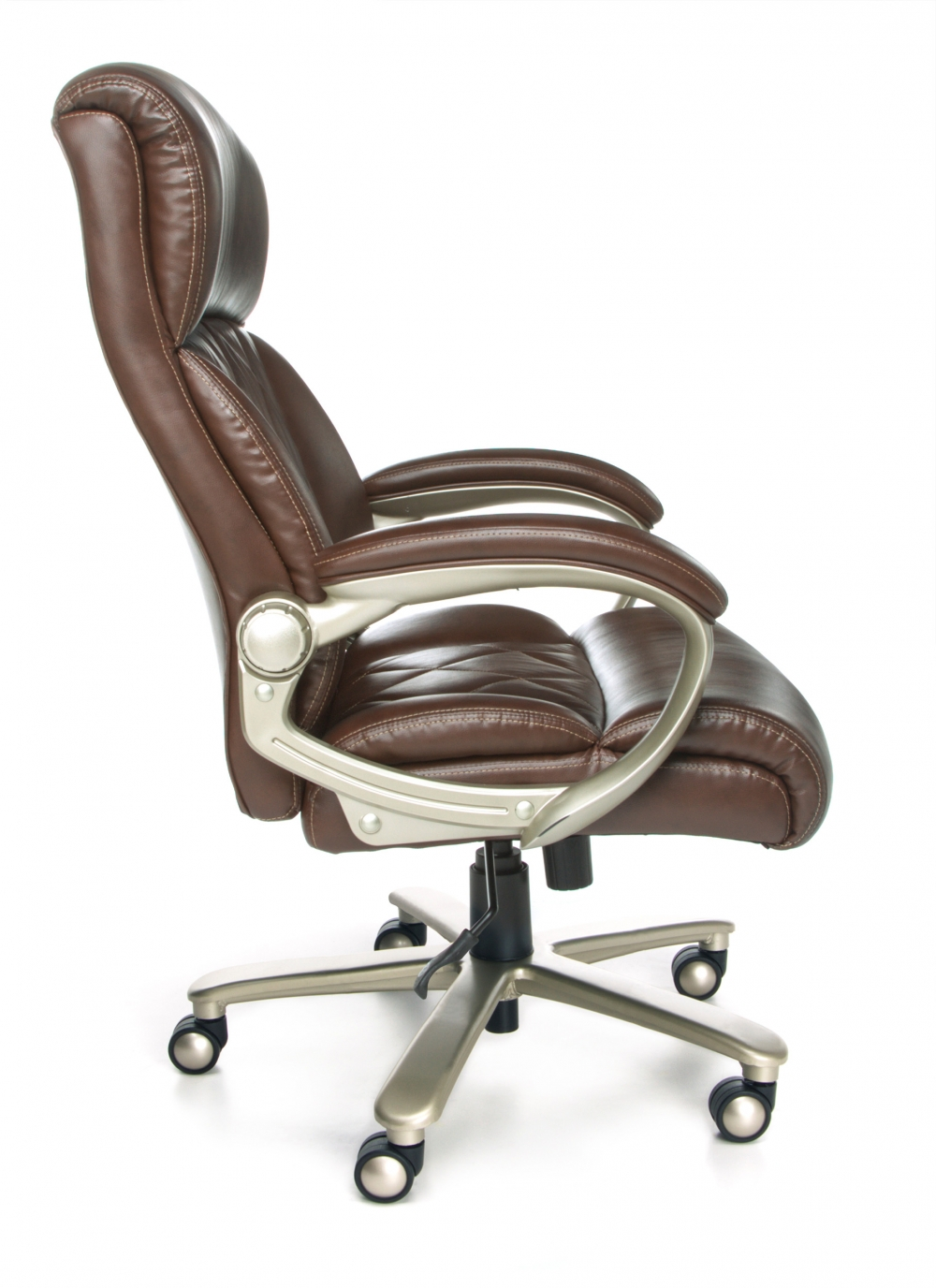 Heavy duty executive chair side view