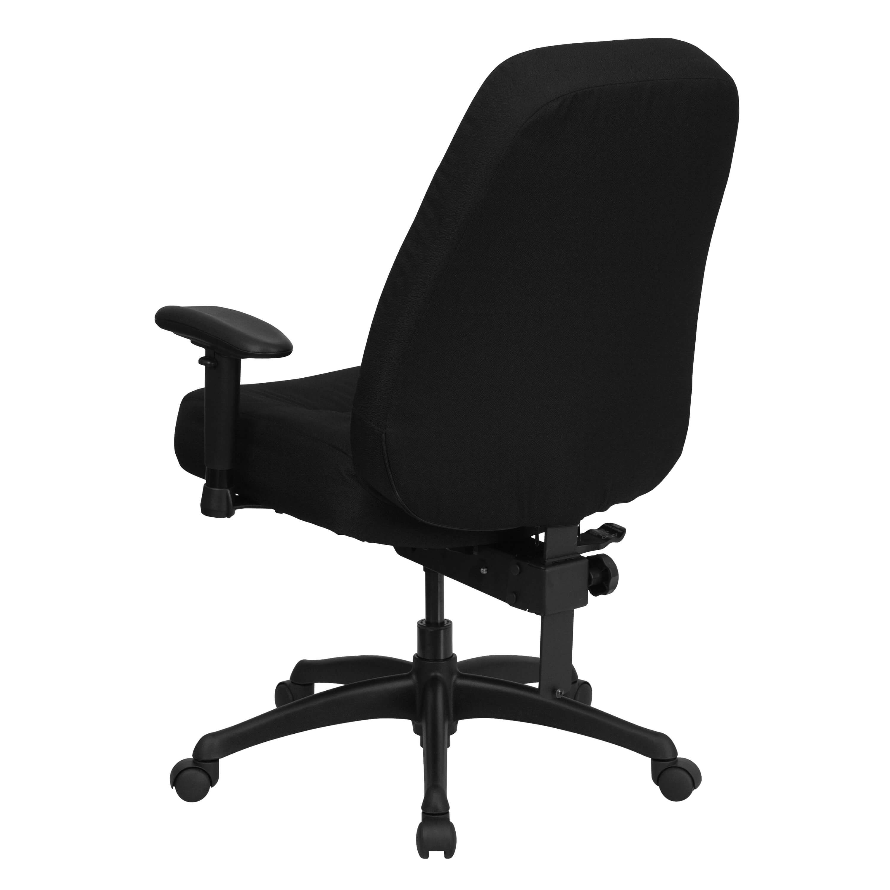 Heavy weight capacity office chair back view