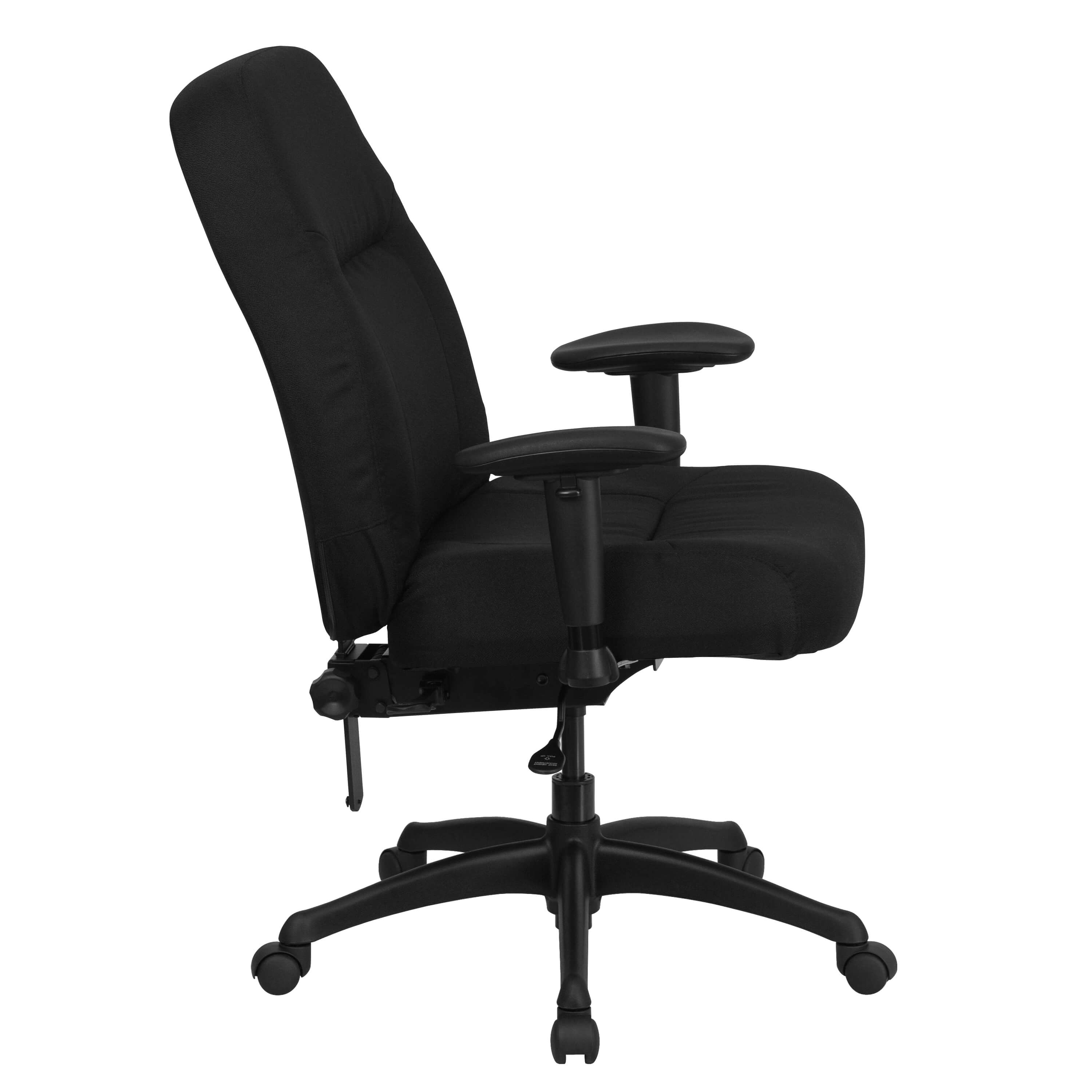 Heavy weight capacity office chair side view