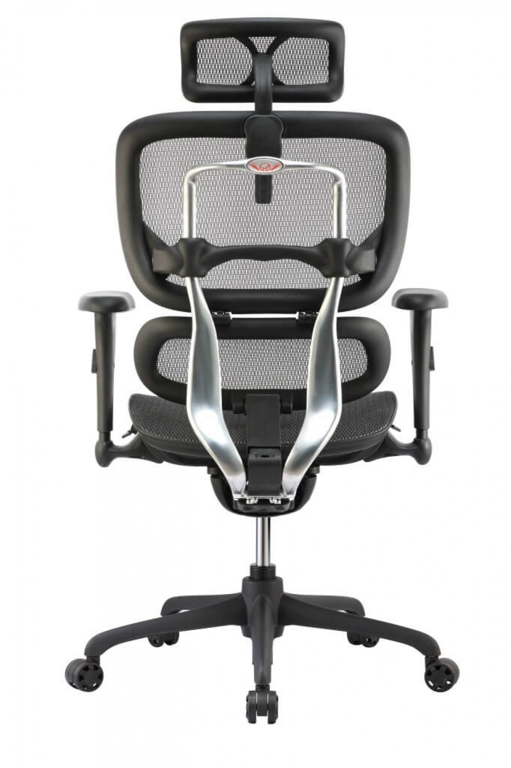 High back office chairs rear view